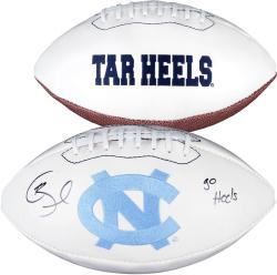 Giovani Bernard North Carolina Tar Heels Autographed White Panel Football with Go Heels Inscription - Mounted Memories