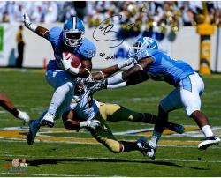 "Giovani Bernard North Carolina Tar Heels Autographed 16"" x 20"" Horizontal Blue Uniform Photograph with Go Heels Inscription"