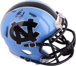 Giovani Bernard North Carolina Tar Heels Autographed Riddell Mini Helmet - Mounted Memories
