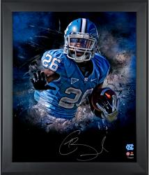 Giovani Bernard North Carolina Tar Heels Framed Autographed 20'' x 24'' In Focus Photograph - Mounted Memories