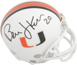 Bernie Kosar Autographed University of Miami Autographed Mini Helmet - Mounted Memories