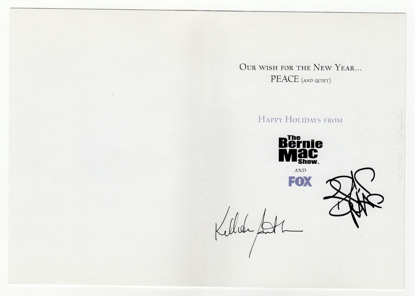 Bernie Mac Show cast signed autographed Christmas card! RARE ...