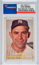 BERRA, YOGI (1957 TOPPS # 2) CARD - Mounted Memories