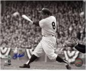 Yogi Berra New York Yankees Autographed 8'' x 10'' Black & White Hit Photograph - Mounted Memories
