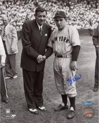 Yogi Berra New York Yankees Autographed 8'' x 10'' Photograph with Babe Ruth - Mounted Memories