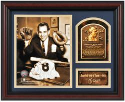 Yogi Berra New York Yankees Framed Hall of Fame Milestones & Memories Photograph with Facsimile Signature - Mounted Memories