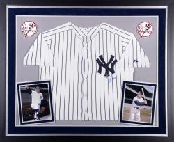 Yogi Berra New York Yankees Autographed Deluxe Framed Authentic Jersey