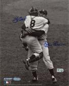 "Yogi Berra & Don Larsen New York Yankees Autographed 8"" x 10"" B&W Hug Photograph"