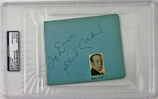 Bert Lahr Signed Vintage Album Page Wizard Of Oz Psa/dna Encapsulated #83587897