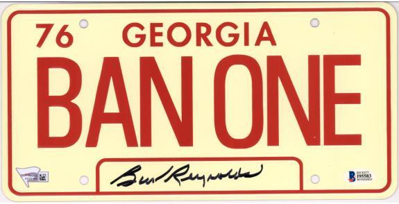 Burt Reynolds Smokey and the Bandit Autographed License Plate - BAS