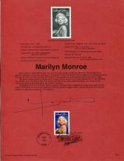 Bert Stern Famous Photographer Signed Autograph Marilyn Monroe FDC Sheet