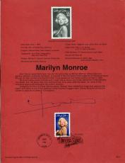 Bert Stern Famous Photographer Signed Autograph Marilyn Monroe FDC Sheet