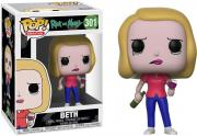 Beth Rick & Morty with Wine Glass #301 Funko Pop!
