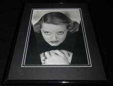 Bette Davis 1934 Framed 11x14 Photo Display