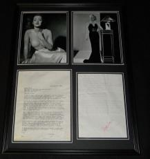 Bette Davis Framed ORIGINAL 1974 Pork & Rice Recipe & Photo Display