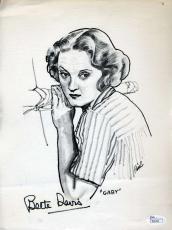 Bette Davis Hand Signed Jsa Coa 8x10 Litho Photo Authenticated Autograph
