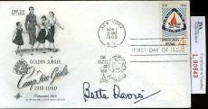 Bette Davis Jsa Authenticated Signed Fdc Certed Autograph