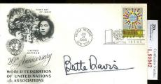 Bette Davis Jsa Authenticated Signed Fdc Certed Autograph
