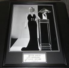 Bette Davis Signed Framed 18x24 Photo Display JSA