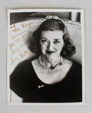Bette Davis Signed & Inscribed B&W 8×10 Photo (JSA)