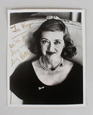 Bette Davis Signed & Inscribed B&W 8×10 Photo – JSA