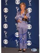 "Bette Midler Autographed 8""x 10"" Holding Primetime Emmy Award Photograph - Beckett COA"