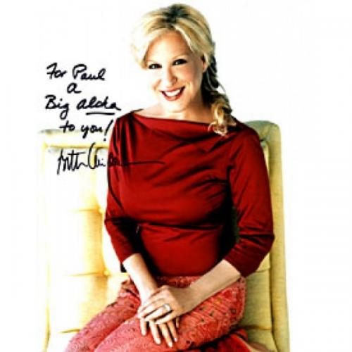 Bette Midler Autographed / Signed 8x10 Photo