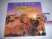 Bette Midler Divine Madness Jsa/coa Signed Lp Record Album