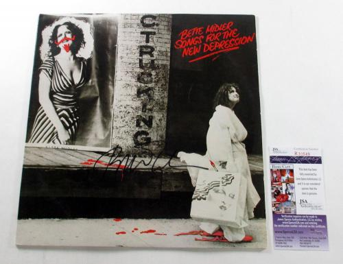 Bette Midler Signed LP Record Album Songs for the New Depression w/ JSA AUTO