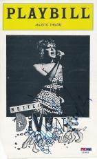 Bette Midler Signed Playbill Autograph Auto PSA/DNA Z10853