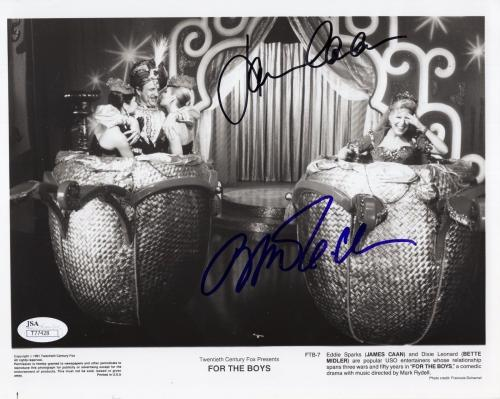 BETTE MIDLER+JAMES CAAN HAND SIGNED 8x10 PHOTO      RARE     FOR THE BOYS    JSA