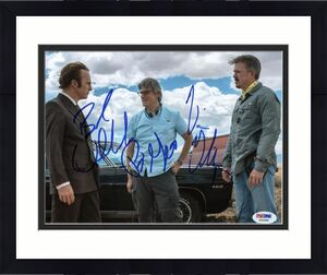 Better Call Saul (3) Odenkirk, Gilligan & Gould Signed 8X10 Photo PSA #X03398