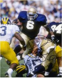 "Jerome Bettis Notre Dame Fighting Irish Autographed 8"" x 10"" vs. Michigan Wolverines Photograph"
