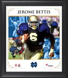 "Jerome Bettis Notre Dame Fighting Irish Framed 15"" x 17"" Core Composite Photograph"