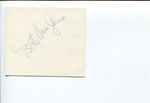 Betty Ann Grove Broadway Actress Singer Signed Autograph