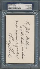 Betty Ford Index Card PSA/DNA Certified Authentic Auto Autograph Signed *7558