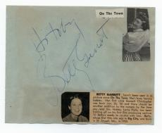 """Betty Garrett Vintage Signed Album Page- """"Laverne and Shirley"""