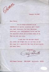 Betty Grable Jsa Certed Signed 1968 Letter Authentic Autograph