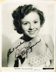 "BETTY LYNN - Best Known as THELMA LOU on ""THE ANDY GRIFFITH SHOW"" Some Stains - Signed 8x10 B/W Photo"