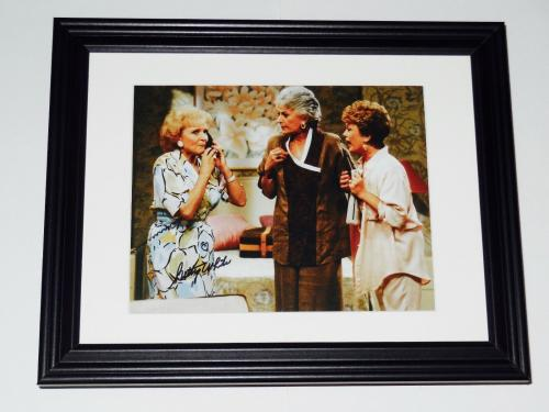Betty White Autographed 8x10 Color Photo (framed & Matted) - Golden Girls!
