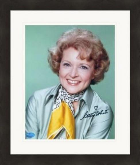 Betty White autographed 8x10 photo (The Golden Girls, Rose Nylund) #12 Matted & Framed