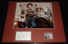 Beverly Hillbillies Buddy Ebsen & Max Baer Signed Framed 16x20 Photo Display