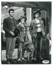Beverly Hillbillies Signed Authentic 8x10 Photo Ebsen/Baer/Douglas PSA/DNA LOA