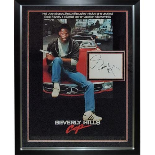 Beverly Hills Cop Full-Size Movie Poster Deluxe Framed with Eddie Murphy Autograph – JSA