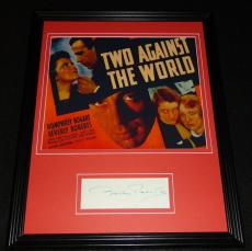Beverly Roberts Signed Framed 11x14 Photo Poster Display Two Against The World