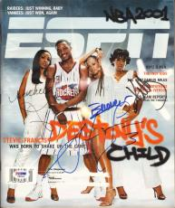 BEYONCE +2 Destiny's Child & Steve Francis Signed ESPN Magazine PSA/DNA #F87562