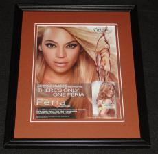 Beyonce 2013 L'Oreal Feria Framed 11x14 ORIGINAL Vintage Advertisement