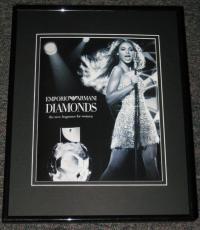 Beyonce Emporio Armani Diamond 2006 Framed Advertisement Promotional Photo 11x14