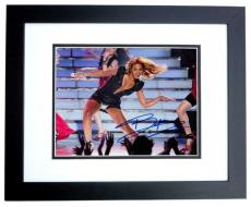 Beyonce Knowles Autographed Concert 8x10 Photo BLACK CUSTOM FRAME