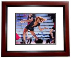Beyonce Knowles Autographed Concert 8x10 Photo MAHOGANY CUSTOM FRAME